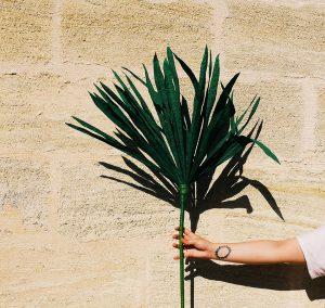 DIY feuille de palmier géante en papier
