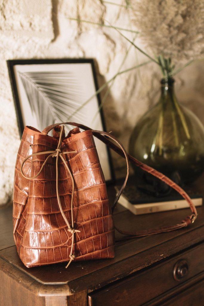 Sac en cuir DIY Wherebeesare couture
